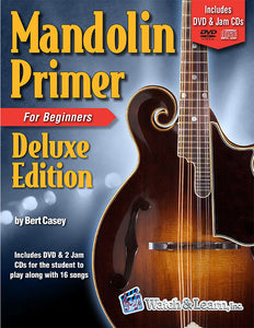 Mandolin Primer Book For Beginners Deluxe Edition with DVD and 2 CD's
