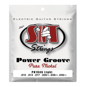 S.I.T. PN1046 Light Power Groove Pure Nickel Electric Guitar Strings