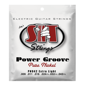 S.I.T. PN942 Extra Light Power Groove Pure Nickel Electric Guitar Strings