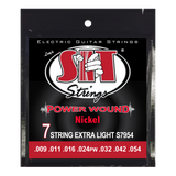 S.I.T. S7954 7-String Extra Light Power Wound Nickel Electric Guitar Strings