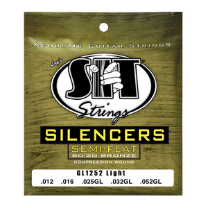 S.I.T. GL1252 Light Silencers Golden Bronze 12-52 Acoustic Guitar Strings