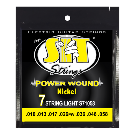 S.I.T. S71058 7-String Medium Power Wound Nickel 10-58 Electric Guitar Strings