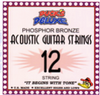 Duck's Deluxe 12 String Acoustic Guitars Strings Lights 10 to 47