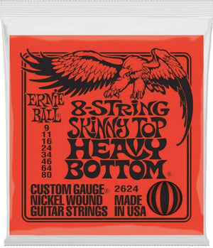Ernie Ball 2624 Skinny Top Heavy Bottom 8-string Nickel Wound Electric Guitar Strings