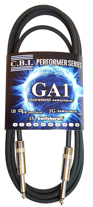 CBI 10ft Green GA1 Instrument Cable