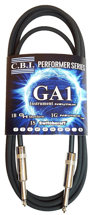 CBI Cables GA1 3ft Instrument Cable