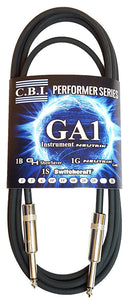 CBI Cables GA1 10ft Instrument Cable Yellow