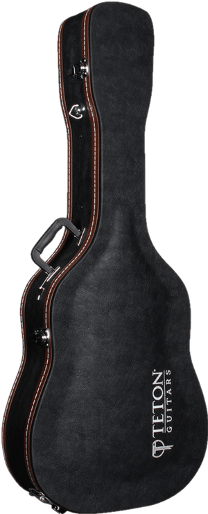 Teton TAF1 Hardshell Guitar Case, Dreadnought Black