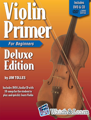 Violin Primer Book For Beginners Deluxe Edition with DVD and CD