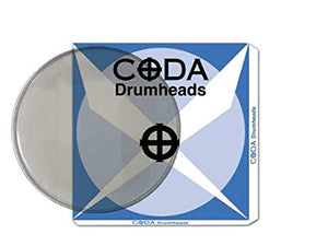 "Coda Drum Head 16"" Double Ply, Clear"