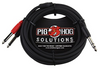 "Pig Hog TRS-Dual 1/4"" Insert Cable 3ft"