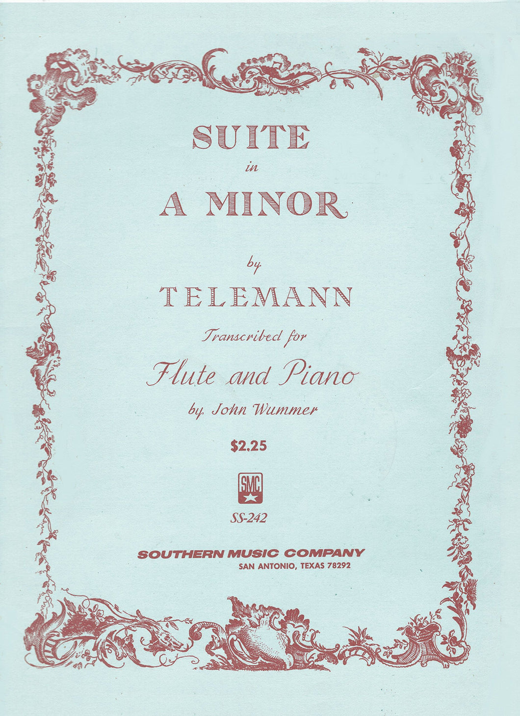 Telemann - Suite in A Minor for Flute and Piano