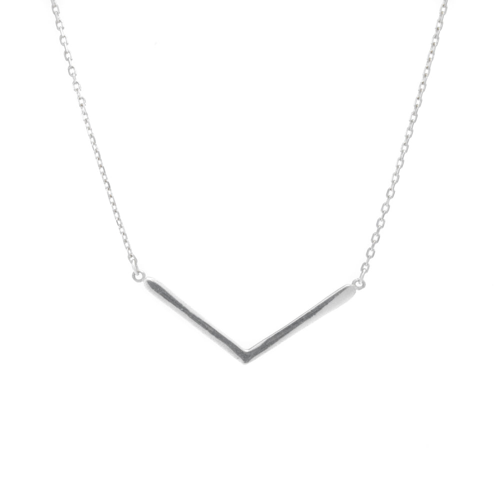 "Brilliant Chevron Necklace by THEELK® Geometric Silver Night Collection  Available chain lengths:  Short 16"" (40CM) Medium 20"" (50CM) Long 24"" (60CM) Description:  The Brilliant Chevron Necklace chain and pendant is made of sterling silver (925). It comes with a delicate sterling silver tag engraved with THEELK® which is positioned at one end of the necklace.  Specification:  Metal: Sterling Silver (925)"