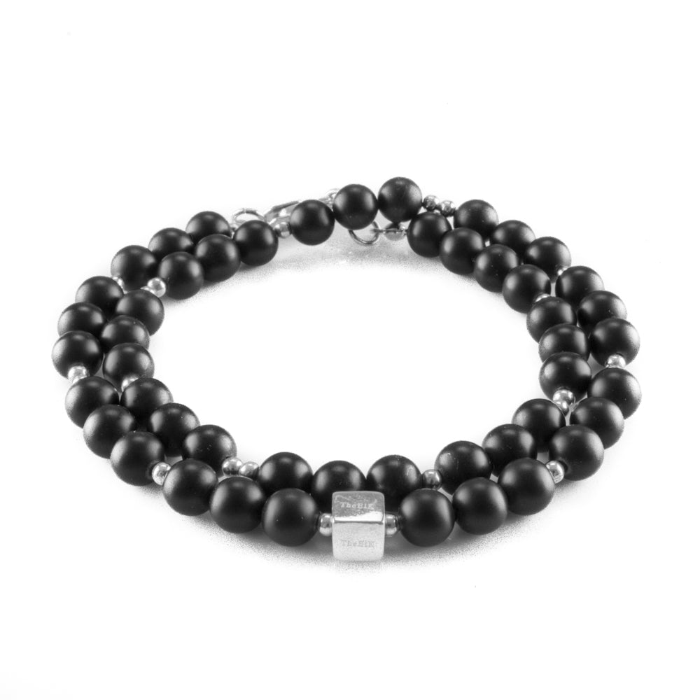 Double Frosted Night Bracelet
