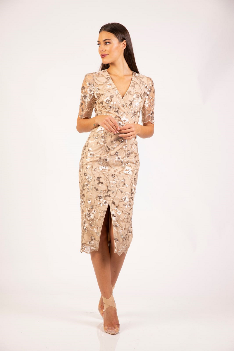 Amelia Midi Nude by Romance the Label