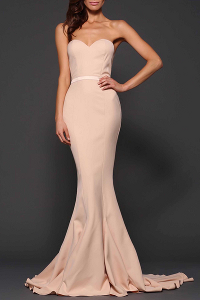 Arianna Gown Nude by Elle Zeitoune