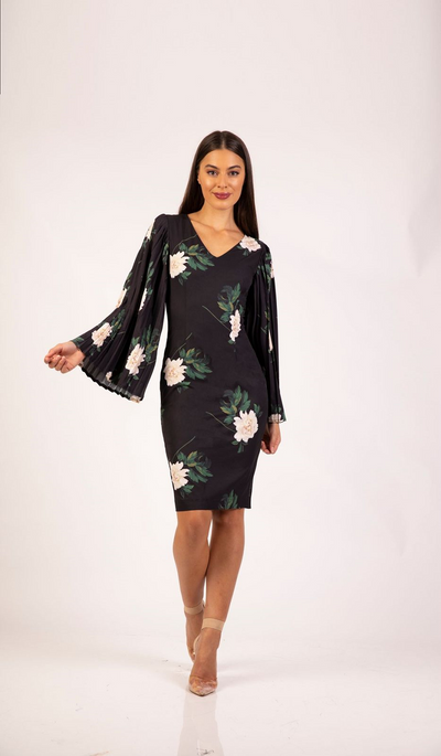 Ava Pleated Sleeve Dress Print by Romance the Label