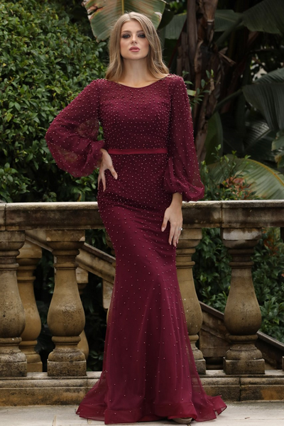Nakia Gown Plum by Tina Holy
