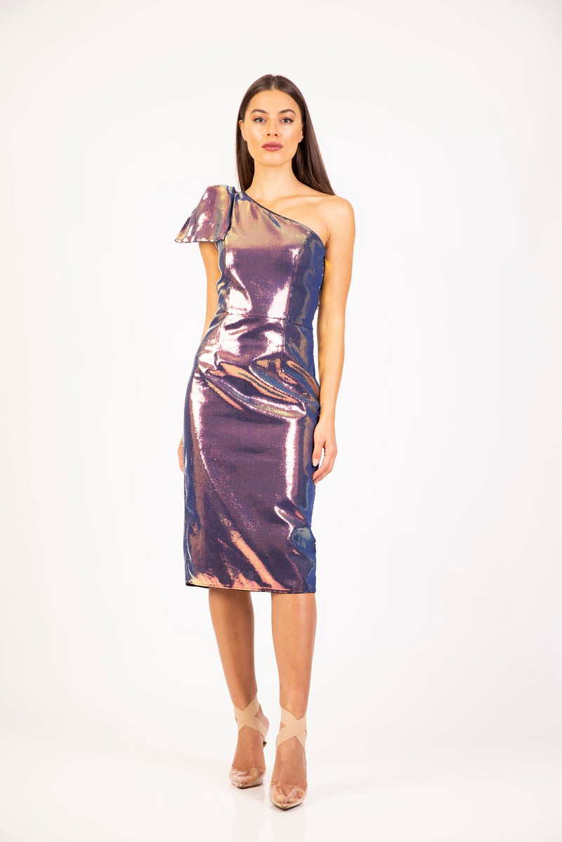 Candice Bow Dress Two Tone by Romance the Label