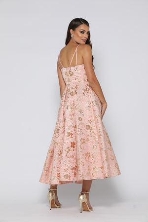 dde256dc7603 Coco Dress Dusty Pink / Gold by YSS The Label — Windsor & Lux