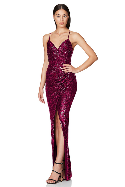 Cosmo Gown Fuchsia by Nookie