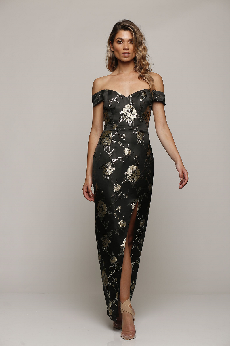 Crushed Maxi Black / Gold by Romance the Label