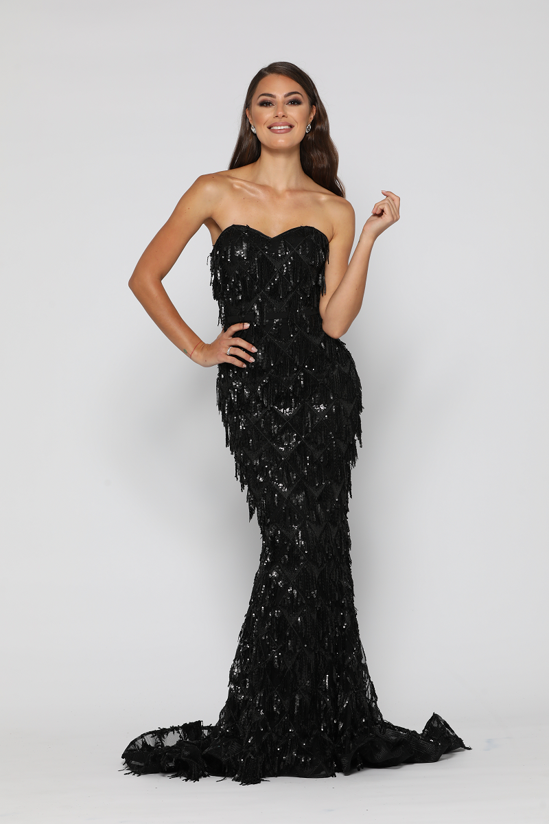 Dazzling Gown Black by YSS The Label