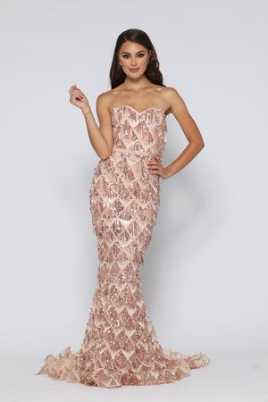 Dazzling Gown Rose Gold by YSS The Label