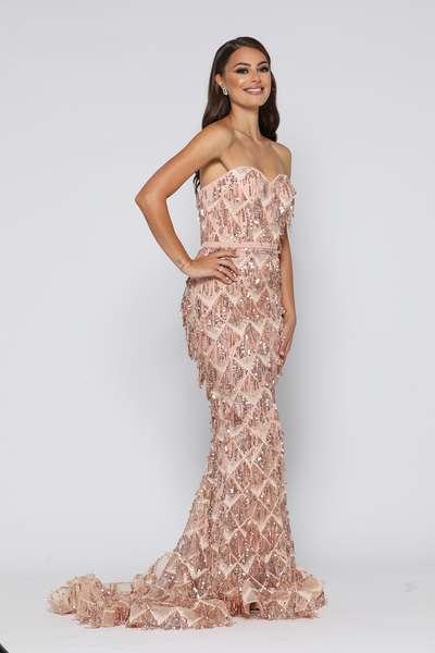adf9c897b2b5 ... Dazzling Gown Rose Gold by YSS The Label
