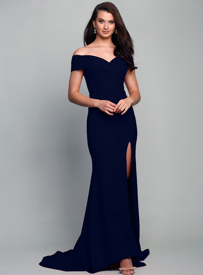 Gia Off the Shoulder Gown Astral Navy by Samantha Rose