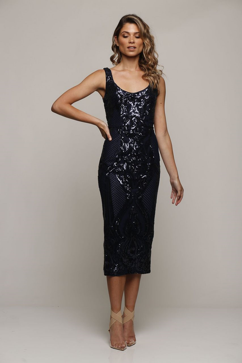 Lust Midi Navy by Romance the Label