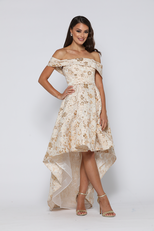 Mademoiselle Dress Cream / Gold by YSS The Label