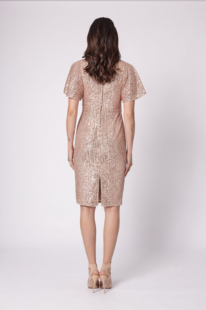 Madisson V Dress Rose Gold by Romance the Label