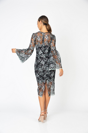 Perfect Bell Sleeve Dress Black by Romance the Label