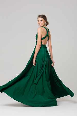 Wrap Dress Emerald by Tania Olsen