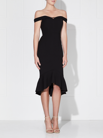 Rosetta Midi Dress Black by Love Honor