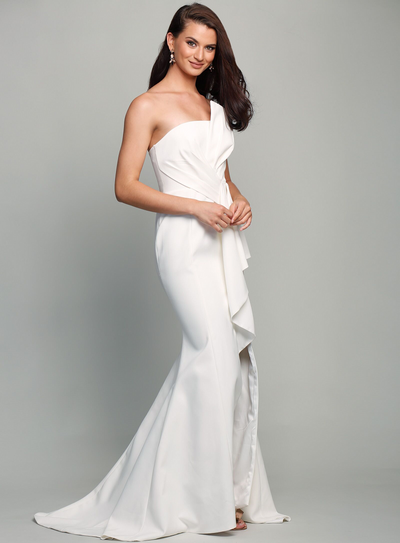 Stellina Gown with Train by Samantha Rose
