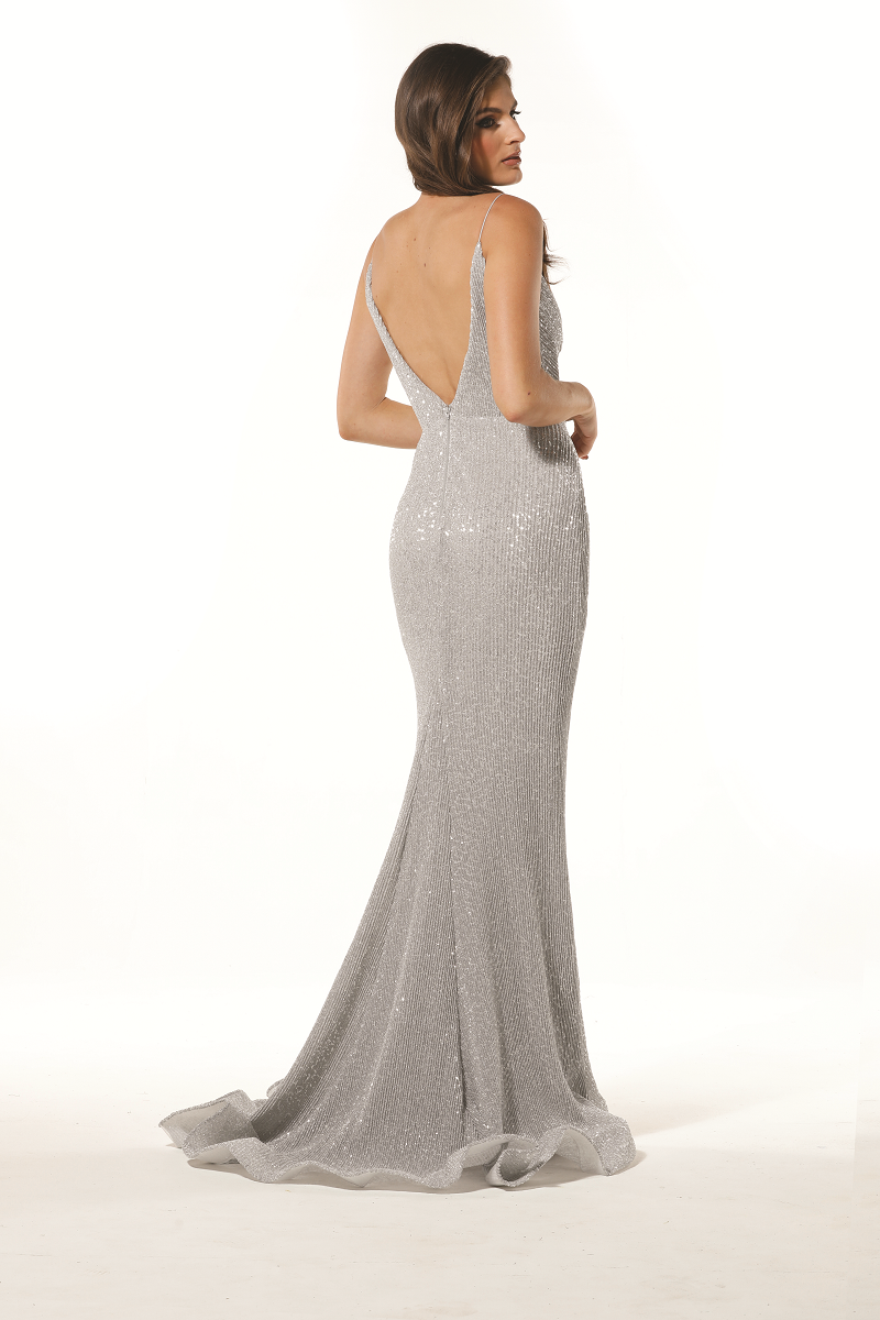 Pia Gown Silver by Tina Holy