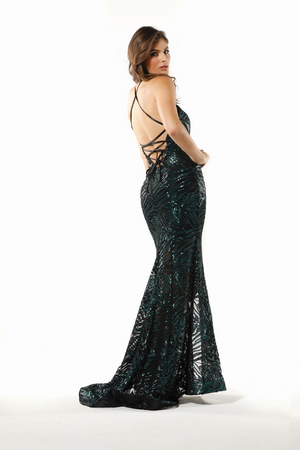 Nicola Gown Emerald by Tina Holy