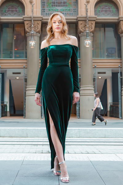 Maya Gown Emerald Green by Tina Holy