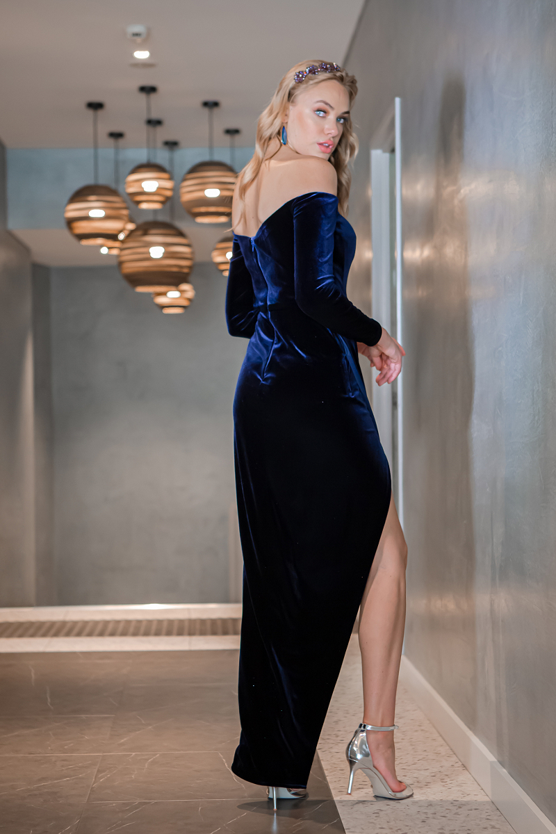 Maya Gown Navy by Tina Holy