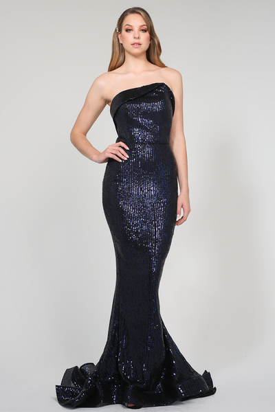 Candice Gown Navy by Tina Holy