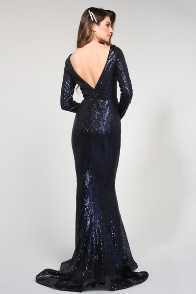 Yenifer Gown Navy by Tina Holy