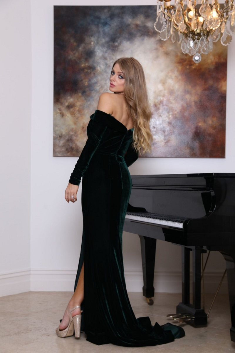 Renee Gown Emerald by Tina Holy