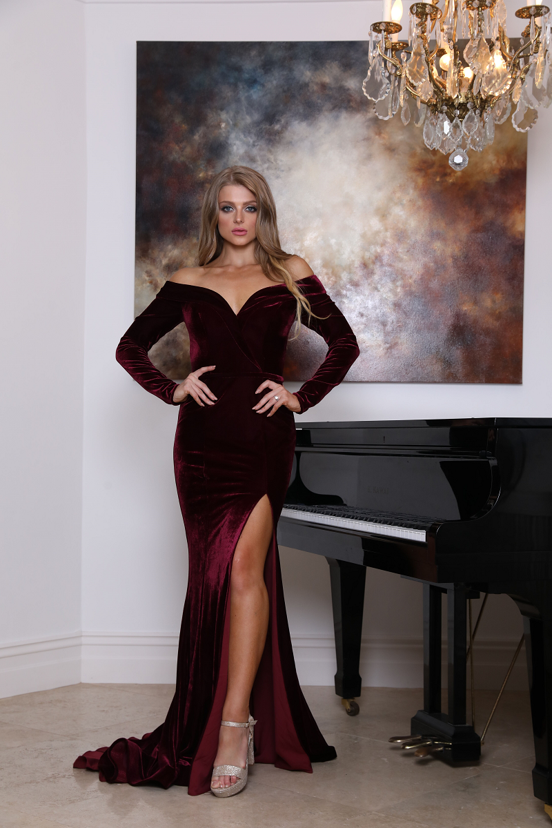 Renee Gown Wine by Tina Holy