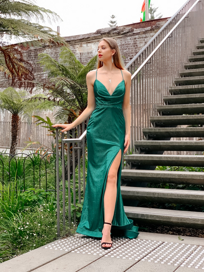Sienna Gown Emerald Green by Tina Holy