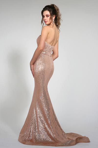 Karolina Gown Rose Gold by Tina Holy