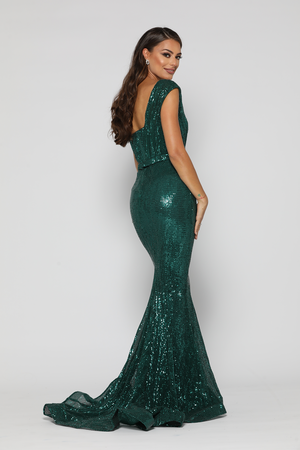 Venetian Gown Emerald Green by YSS The Label