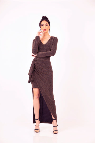Night Moves Draped Maxi by Romance The Label