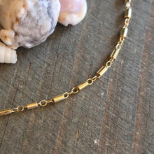 Gold Tube Chain Choker Necklace